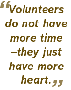 Volunteers do not have more time